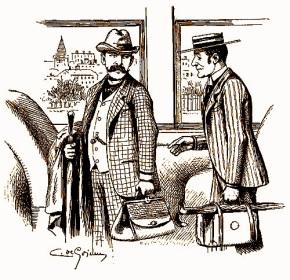 Two gentlemen on public transport