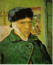 Van-Gogh wasn't a philistine but he was a drunk.  Don't drink and shave.
