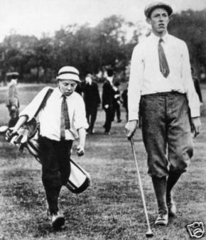Look at how much fun the kid from next door is having by carrying your clubs.