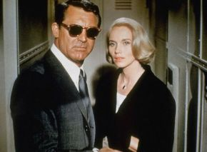 Cary Grant tries to hide his identity using sunglasses.  Unfortunately Cary Grant is the most recognisable person in the world and his disguise has failed.