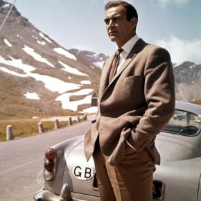 You don't see Sean Connery slouching when he stands in front of vintage automobiles looking wistfully into the distance.