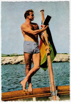 Sean Connery manages to fuse the nautical gentleman, the reading gentleman, the beach gentleman and the bare-and-unshaven chest gentleman into one amazing pose.