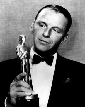Sinatra's timing was always impeccable. I can only assume that he is holding the international award for being a man of his word.