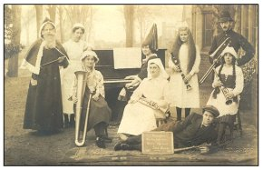 In the early days, Christmas was celebrated by lying on a rug and surrounding yourself with weird looking women.