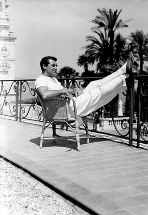 Cary Grant puts his feet up like it's no one's business.  Grant was actually the fittest person in the world during the 1950s but even he had to rest sometimes.