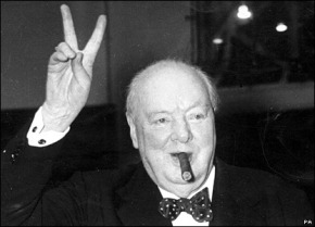 Churchill, nearing the end of his glass of scotch, order two more.
