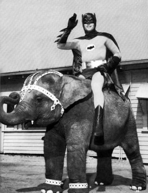 Adam West had an entirely unique way to celebrate Easter.