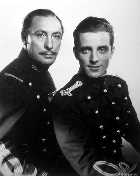 Lionel Atwill's mustache dresses as a Colonel for Nana (1934).