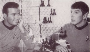 Kirk and Spock play a variation of space-chess.. It involves an extra dimension and three extra pieces. The winner of this game playes Chekov in the final.