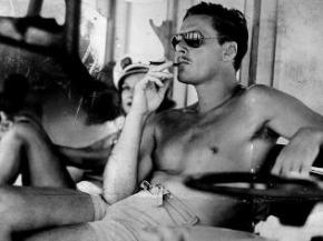 When Errol Flynn wasn't filming or in jail, he was relaxing as only Errol Flynn can, after he patented it.