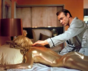 Sean Connery wakes up on Christmas morning to find just what he wanted.  He also got a woman coated in Frankincense and one in myrrh