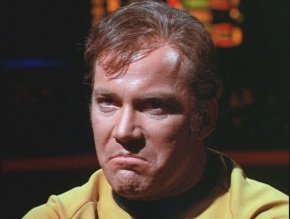 William Shatner demonstrates the emotion 'Nordic displeasure' flawlessly during his spare time.