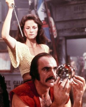 Sean Connery dabbled with the paranormal when he tried to see his future.  Luckily for him he predicted he was about to be stabbed, unluckily the reason for this was that he spent too much time using the crystal ball.