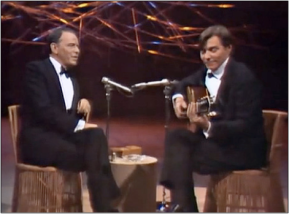 Frank Sinatra and Antonio Carlos Jobim performing together