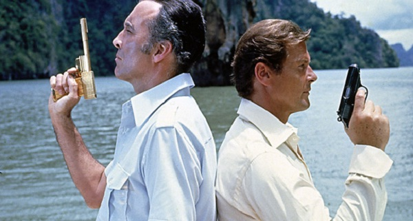 Roger Moore accidentally bumps into his arch nemesis at the start of his adventure.  They quickly pretended not to see each other and continued about their business.